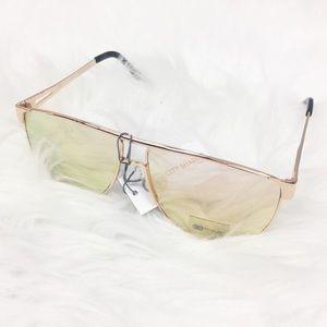 City Shades   Flat Top Rose Gold Sunglasses